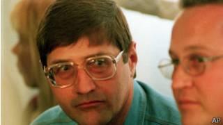 Eugene de Kock en 1998, condamné à deux peines à perpétuité, est en prison depuis 20 ans
