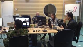 Una transmisión de Voces del Secuestro en Bogotá, Colombia.