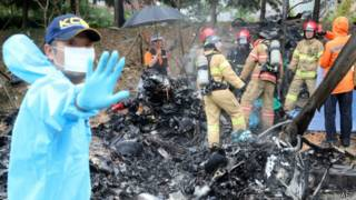 Accidente de helicóptero en Corea del Sur
