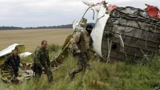 Lugar donde cayó el vuelo MH17