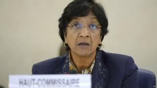 La alta comisionada de la ONU, Navi Pillay.