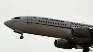 Avión de Air Algerie aterrizando en Argelia