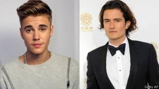 Justin Bieber y Orlando Bloom