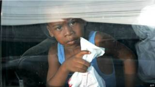 Un niño hondureño al llegar a Honduras tras ser repatriado de EEUU. Foto: AFP/Getty