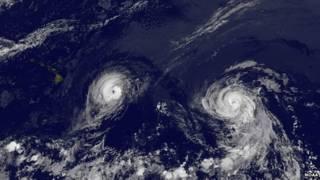 """Ciclón """"Iselle""""."""