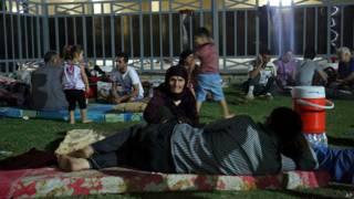 Cristianos iraquíes desplazados