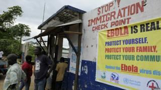 Puesto de control en Liberia