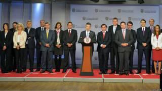 Juan Manuel Santos y su nuevo gabinete