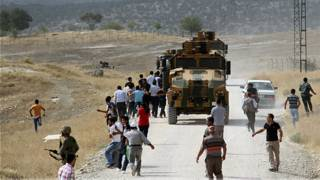 Manifestantes kurdos