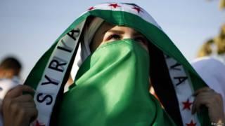 Manifestación de opositores sirios en Jordania