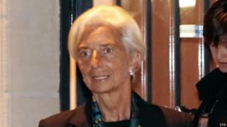 Christine Lagarde em corte francesa em 26 de agosto (EPA)