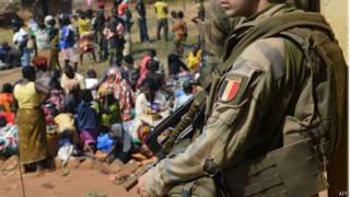 Tropas francesas en la República Centroafricana