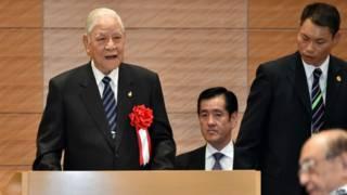 李登輝訪問日本,在7月22日對日本國會議員發表演說。