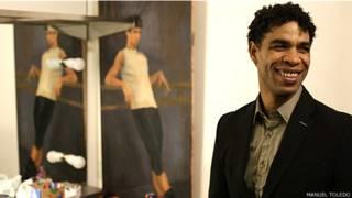 Carlos en su camerino, después de su última función con el Royal Ballet