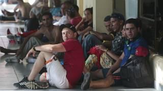 Cubanos en la frontera entre Nicaragua y Costa Rica