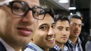 Carlos, Jorge, William y Wilber (de izquierda a derecha)