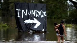 Inundación en Argentina
