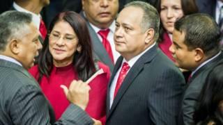 Pedro Carrreño, Cilia Flores y Diosdado Cabello.