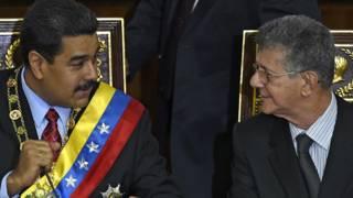 Nicolas Maduro y Henry Ramos Allup