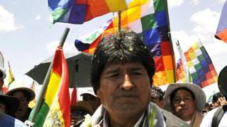 Evo Morales en octubre de 2008