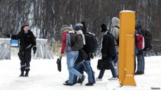 беженцы на российско-норвежской границе