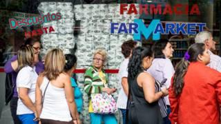 Filas en farmacias en Venezuela
