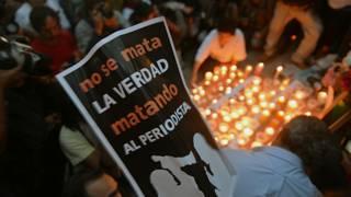 Protesta por el asesinato de un periodista en México (archivo)