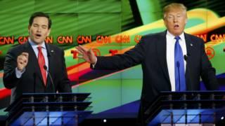 Marco Rubio y Donald Trump