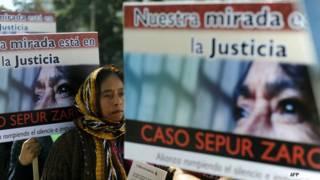 Manifestación de apoyo a mujeres víctimas de abusos sexuales de militares en Guatemala. Foto: AFP/Getty