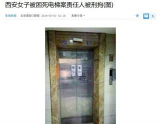 Imagen del ascensor de un edificio residencial en China