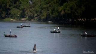 Río Suchiate, en la frontera entre México y Guatemala.