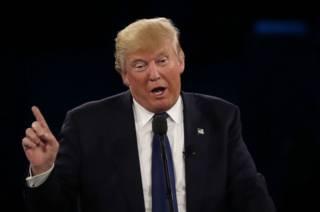 Трамп выступает на на конференции Американо-Израильского комитета по общественным связям