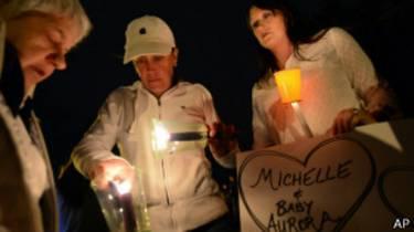 Michelle Wilkins vigilia acuchillada bebé