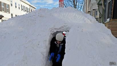 Nieve en Boston