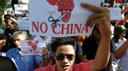 Protesta contra China en Vietnam