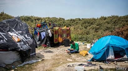 Campamento en Calais