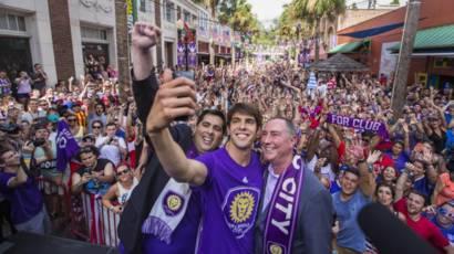 Kaká quando foi contratado pelo time Orlando City