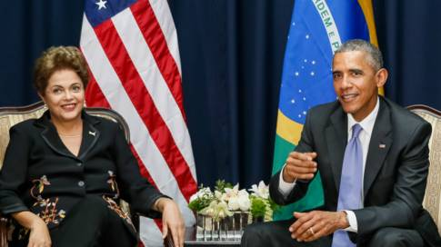 Dilma e Obama se encontraram na Cúpula das Américas no Panamá  Foto AFP