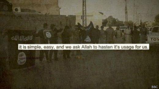 Cita de un blog islamista