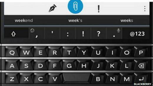 Teclado del Blackberry