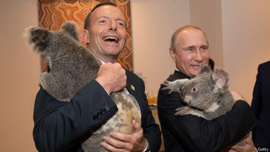 Тони Эбботт и Владимир Путин