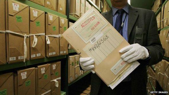 Documentos desclasificados en los Archivos Nacionales.