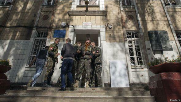 مقتل 4 في قصف مدرسة في دونيتسك باوكرانيا