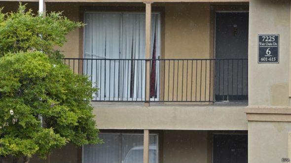 Apartamento onde Duncan está isolado, no Texas (EPA)