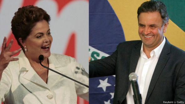 Dilma y Aecio