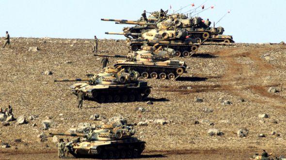 اردوغان يطالب بعمليات برية تنظيم