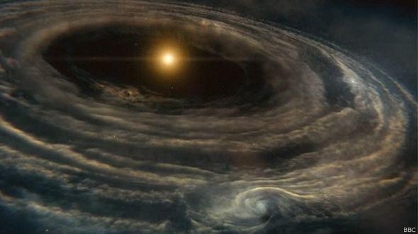 La galaxia, de una nebulosa