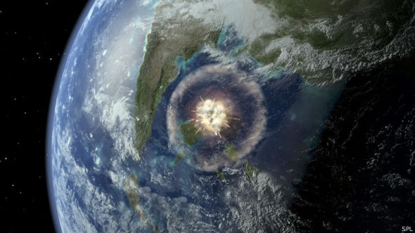 Meteorito choca en la Tierra