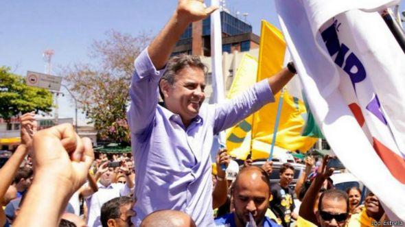 Aécio Neves em campanha / Igo Estrela