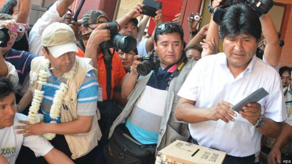 Votación de Evo Morales